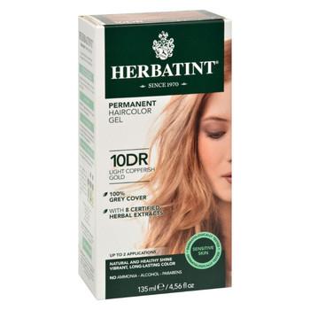 Herbatint Permanent Herbal Haircolour Gel 10 DR Light Copperish Gold - 135 ml