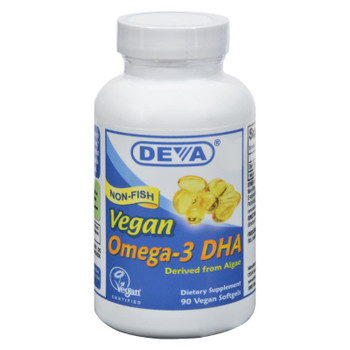 Deva Vegan Vitamins - Omega-3 DHA - 90 Vegan Softgels