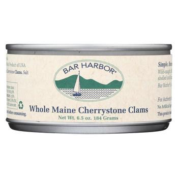 Bar Harbor Whole Maine Cherrystone Clams - Case of 12 - 6.5 oz.