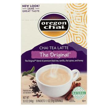 Oregon Chai Tea Latte Mix - The Original - Case of 6 - 8 Count