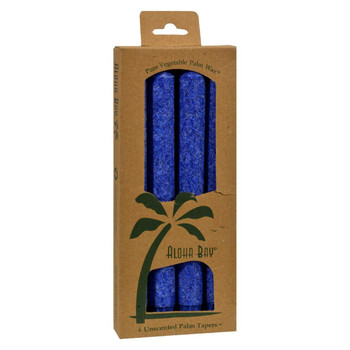Aloha Bay - Palm Tapers - Royal Blue - 4 Candles