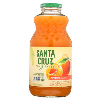 Santa Cruz Organic Juice - Apricot Mango - Case of 12 - 32 Fl oz.