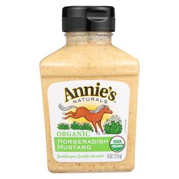Annie's Naturals Organic Horseradish Mustard - Case of 12 - 9 oz.