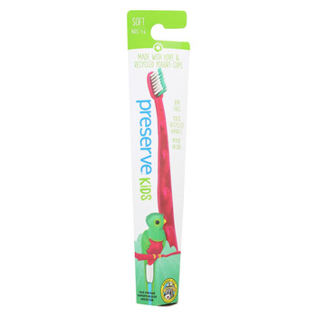 Preserve Kids' Toothbrush- 6 Pack - Assorted Colors