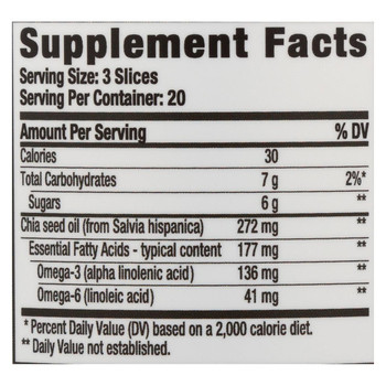Hero Nutritional Products Slice of Life - Omega 3 with Chia Seed - 60 Gummy Slices