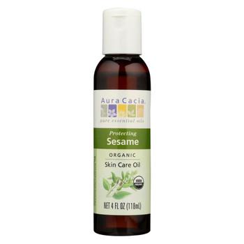 Aura Cacia - Organic Aromatherapy Sesame Oil - 4 fl oz