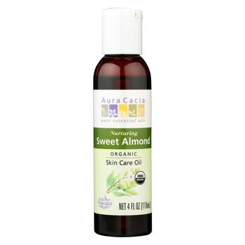 Aura Cacia Organic Aromatherapy Sweet Almond Oil - 4 fl oz