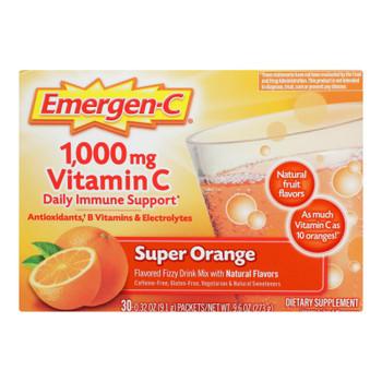Alacer - Emergen-C 1000 mg Vitamin C - Super Orange - 30 Packet