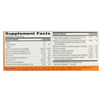 Alacer - Emergen-C Vitamin C Fizzy Drink Mix Tangerine - 1000 mg - 30 Packets