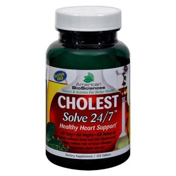 American Bio-Sciences - Cholest Solve 24/7 - 120 Tablets