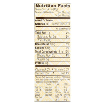 Bob's Red Mill - 100% Organic Brown Rice Flour - Case of 4 - 24 oz