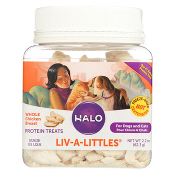 Halo Purely For Pets Liv - A - Littles - Chicken - Case of 12 - 2.2 oz.