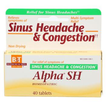 Boericke and Tafel Alpha SH Sinus Headache - 40 Tablets