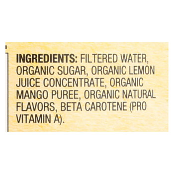 Santa Cruz Organic Juice - Mango Lemonade - Case of 12 - 32 Fl oz.