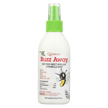 Quantum Research Buzz Away Insect Repellent Citronella Spray - 6 oz
