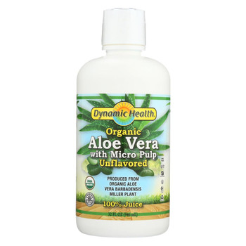 Dynamic Health Organic Aloe Vera Juice with Micro Pulp - 32 fl oz