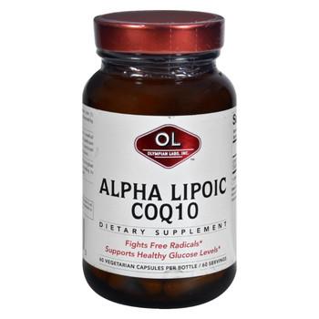 Olympian Labs Alpha Lipoic Coenzyme Q10 - 200 mg - 60 Vegetarian Capsules