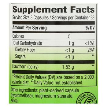 Nature's Way - Hawthorn Berries - 510 mg - 100 Capsules
