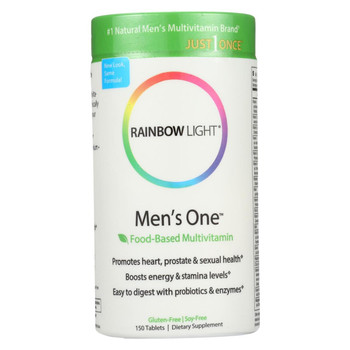 Rainbow Light Men's One Energy Multivitamin - 150 Tablets