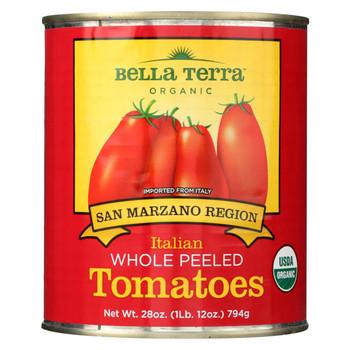 Bella Terra Organic Italian Whole Peeled Tomatoes - San Marzano - Case of 12 - 28 oz.