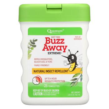 Quantum Buzz Away Extreme Repellent Pop-Up Towelette Dispenser - 25 Towelettes