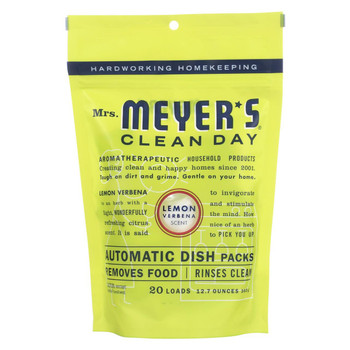 Mrs. Meyer's Clean Day - Automatic Dishwasher Packs - Lemon Verbena - Case of 6 - 12.7 oz