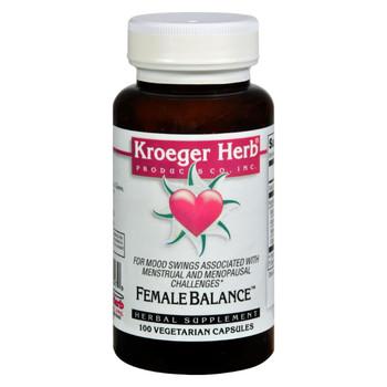Kroeger Herb Female Balance - 100 Capsules