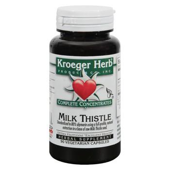 Kroeger Herb Milk Thistle - 90 Vegetarian Capsules