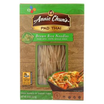 Annie Chun's Pad Thai Brown Rice Noodles - Case of 6 - 8 oz.
