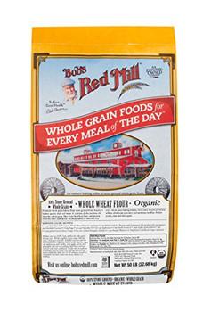Bob's Red Mill - 100% Organic Flour - Whole Wheat - 50 lb.