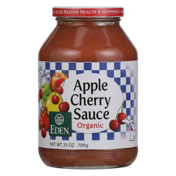 Eden Foods 100% Organic Cherry Applesauce - Case of 12 - 25 oz