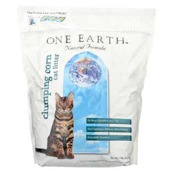 One Earth Cat Litter - Clumping Corn - Case of 4 - 7