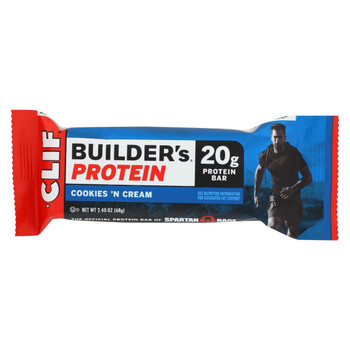 Clif Bar Builder Bar - Cookies and Cream - Case of 12 - 2.4 oz