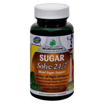 American Bio-Sciences SUGAR Solve 24-7 - 60 Softgels