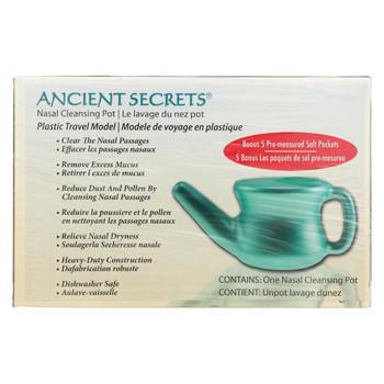 Ancient Secrets Nasal Cleansing Neti Pot - Plastic - 1 Pot