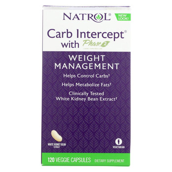 Natrol White Kidney Bean Carb Intercept - 120 Capsules