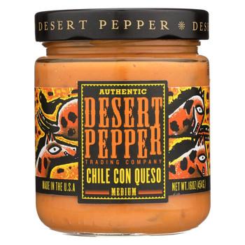 Desert Pepper Trading - Medium Chile Con Queso Dip - Case of 6 - 16 oz.