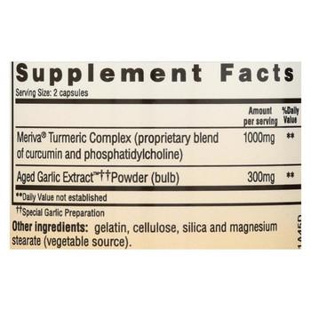 Kyolic Aged Garlic Extract Curcumin Healthy Inflammation Response - 50 Capsules