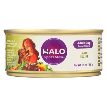 Halo Purely For Pets Dog Food - Spots Stew - Wholesome Lamb - 5.5 oz - case of 12