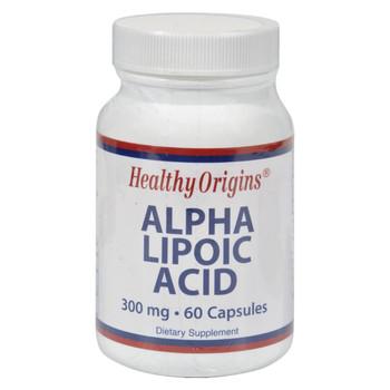 Healthy Origins Alpha Lipoic Acid - 300 mg - 60 Capsules