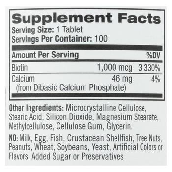 Natrol Biotin - 1000 mcg - 100 Tablets
