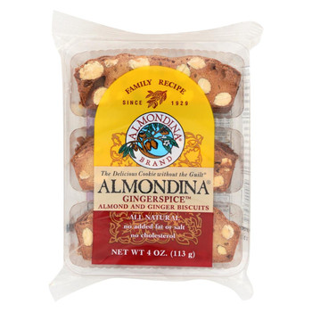 Almondina Ginger Spice Biscuit - Case of 12 - 4 oz
