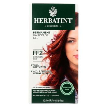 Herbatint Haircolor Kit Flash Fashion Crimson Red FF2 - 1 Kit