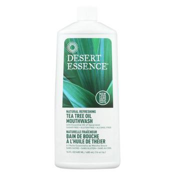 Desert Essence - Natural Refreshing Tea Tree Oil Mouthwash - 16 fl oz