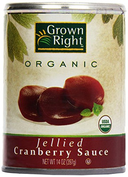 Grown Right Organic Sauce - Jellie Cranberry - Case of 24 - 14 oz.