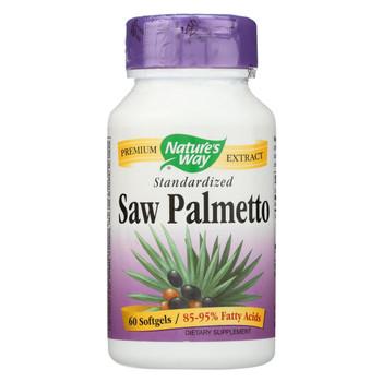 Nature's Way - Saw Palmetto Standardized - 60 Softgels