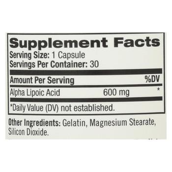 Natrol Alpha Lipoic Acid - 600 mg - 30 Capsules