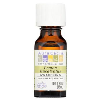 Aura Cacia - 100% Pure Essential Oil Lemon Eucalyptus - 0.5 fl oz