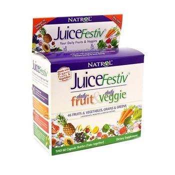 Natrol JuiceFestiv and VeggieFestiv - 2 ct - 60 Caps