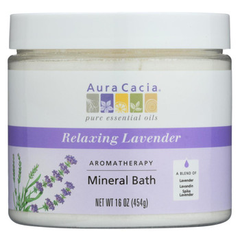 Aura Cacia - Aromatherapy Mineral Bath Lavender Harvest - 16 oz